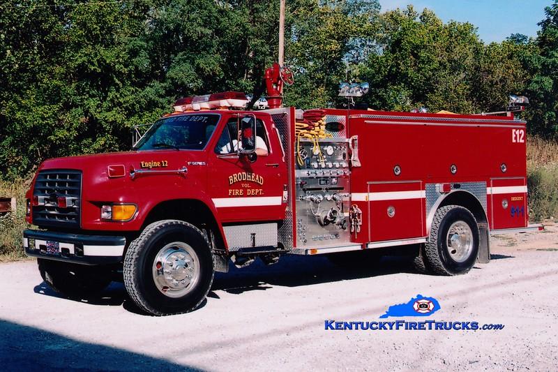<center> Brodhead  Engine 12 <br> 1997 Ford F-800/E-One 1250/1000  <br> Greg Stapleton photo </center>