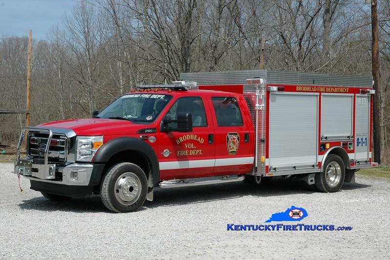 <center> Brodhead  Rescue 13 <br> 2011 Ford F-550 4x4/Wynn  <br> Greg Stapleton photo </center>