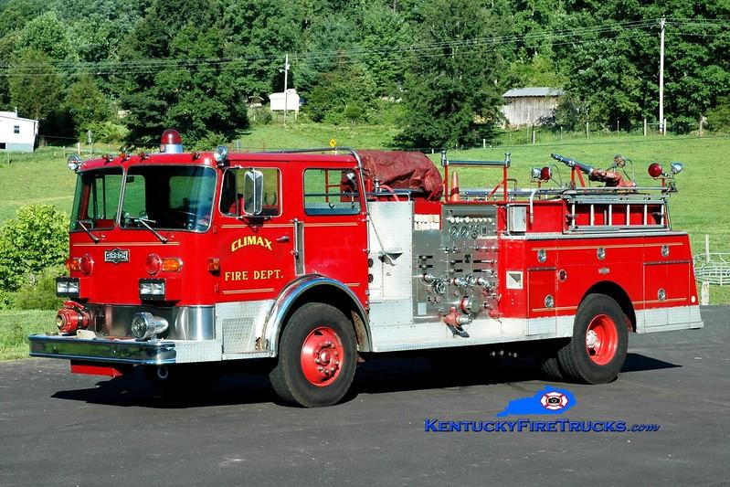 <center> RETIRED <br> Climax  Engine 3 <br> x-Louisville, KY <br> 1980 Pirsch 1500/300 <br> Greg Stapleton photo </center>