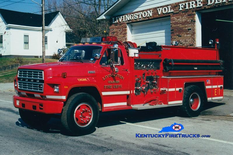<center> RETIRED <br> Livingston  Engine 31 <br> 1982 Ford F/FMC 750/750 <br> Greg Stapleton photo <br> </center>