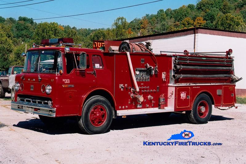 <center> RETIRED <br> Livingston  Engine 33 <br> x-Anderson County, KY <br> 1979 Ford C/Jaco 750/1250 <br> Greg Stapleton photo <br> </center>