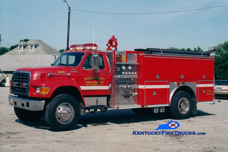<center> Mount Vernon-Rockcastle County Engine 612 <br> 1997 Ford F-800/E-One 1250/1000 <br> Greg Stapleton photo <br> </center>