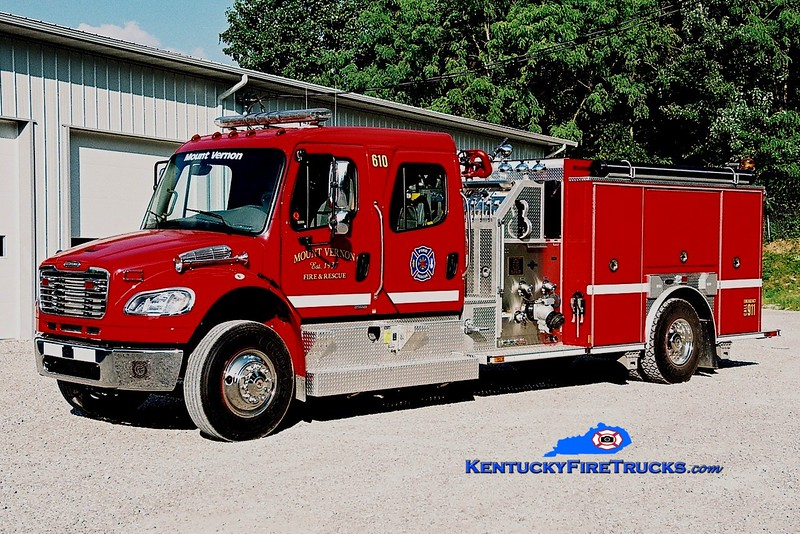 <center> Mount Vernon  Engine 610 <br> 2009 Freightliner M2-106/E-One 1250/1000 <br> Greg Stapleton photo <br> </center>