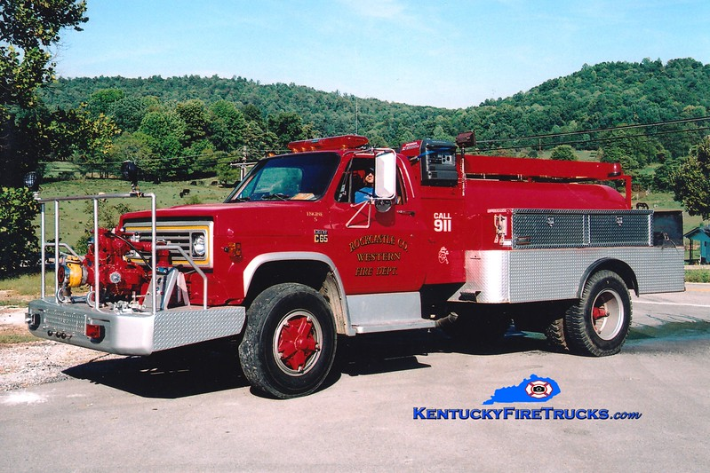 <center> RETIRED <br> Western Rockcastle County  Engine 5 <br> 1974 Chevy C65/FD 750/1000 <br> Greg Stapleton photo </center>