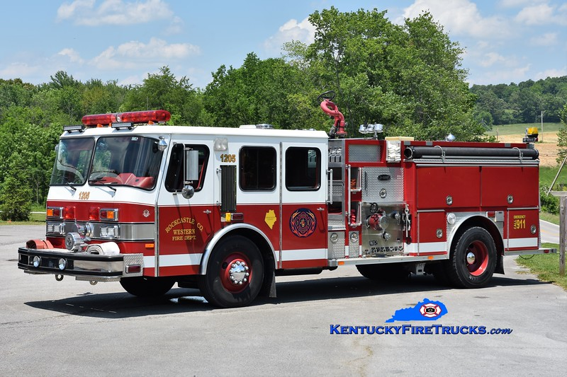 Western Rockcastle County  Engine 1205<br /> x-Mount Vernon, KY<br /> 1992 E-One Cyclone 1250/1000<br /> Greg Stapleton photo