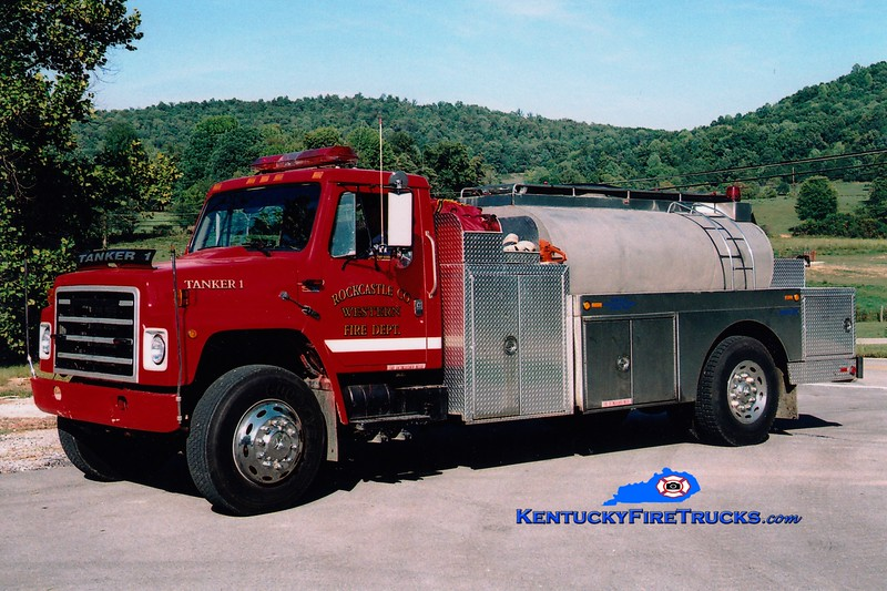 <center> Western Rockcastle County  Tanker 1201 <br> 1985 International S/Local 250/1500  <br> Greg Stapleton photo </center>