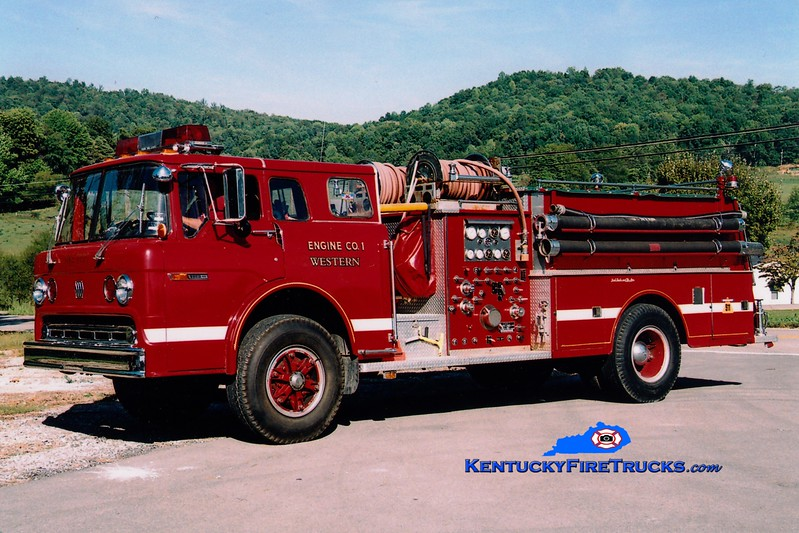 <center> RETIRED <br> Western Rockcastle County  Engine 1 <br> x-Mt Vernon, KY <br> 1979 Ford C/Jaco 1000/750 <br> Greg Stapleton photo </center>