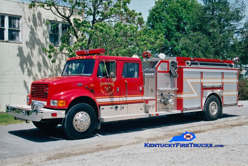 Farmers  Engine 4<br /> 1999 International 4900/E-One 1250/1000<br /> Greg Stapleton photo