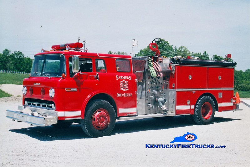 RETIRED<br /> Farmers  Engine 3<br /> x-Cincinnati, OH <br /> 1982 Ford C/Grumman 750/1000<br /> Greg Stapleton photo
