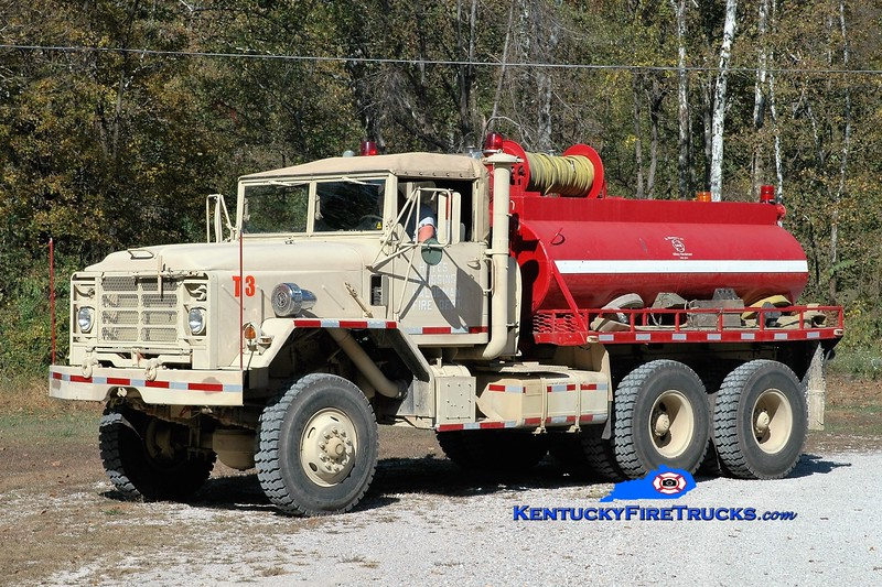 Hayes Crossing-Haldeman  Tanker 3<br /> x-US Army <br /> 2001 AM General M923/Local 250/1000<br /> Greg Stapleton photo