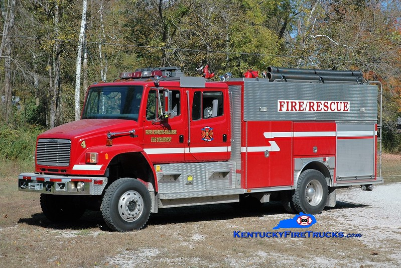 Hayes Crossing-Haldeman  Pumper 4<br /> 1995 Freightliner FL106 4x4/Becker 1000/1000<br /> Greg Stapleton photo