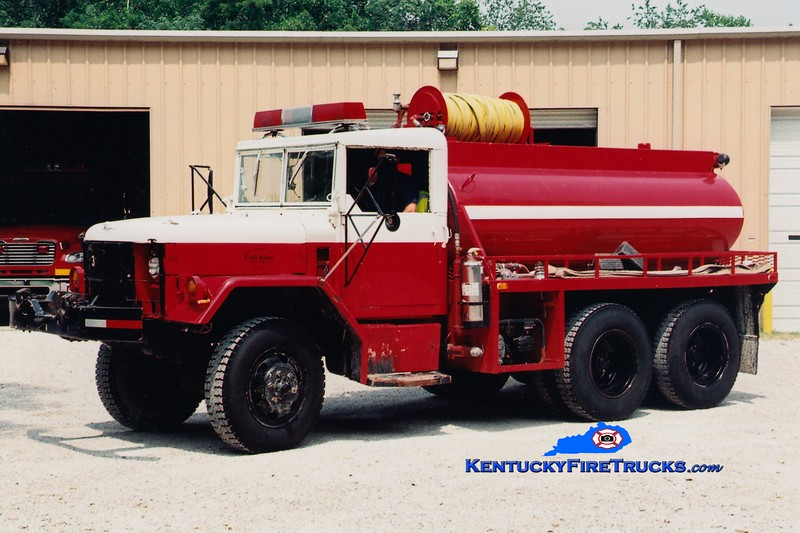 <center> RETIRED <br> Hayes Crossing-Haldeman  Tanker 3  <br> x-US Army <br> 1981 AM General 6x6/FD 250/1000 <br> Greg Stapleton photo </center>