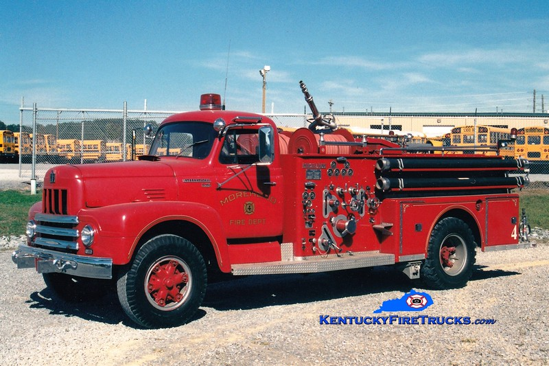 <center> RETIRED <br> Morehead  Engine 4  <br> 1961 International/American LaFrance 750/500 <br> Greg Stapleton photo </center>
