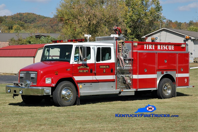 Morehead  Engine 9<br /> 1998 Freightliner FL80/E-One 1250/500<br /> Greg Stapleton photo
