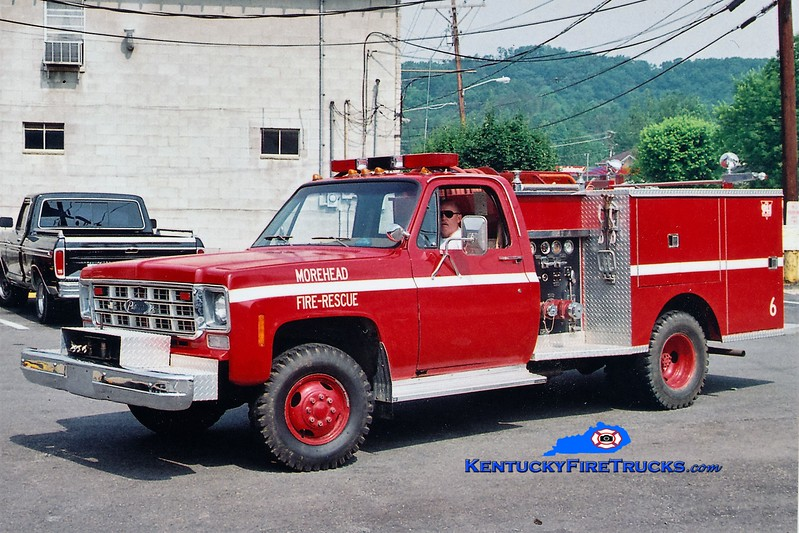 RETIRED <br /> Morehead  Engine 6<br /> 1978 Chevy K30 4x4/Pierce 300/250<br /> Greg Stapleton photo