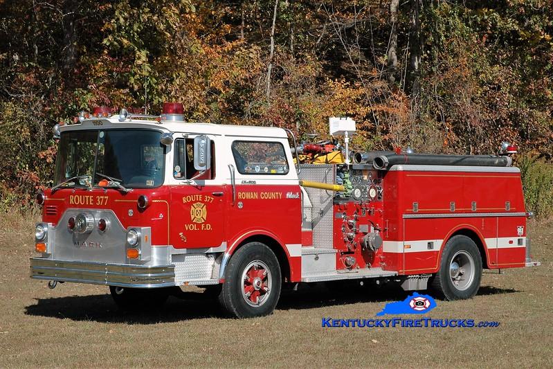 RETIRED <br /> Route 377  Engine 7<br /> x-Roslyn, PA<br /> 1976 Mack CF 1000/500<br /> Greg Stapleton photo