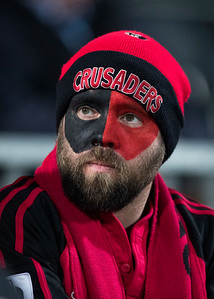 Crusaders Fan during game 3 of the British and Irish Lions 2017 Tour of New Zealand,The match between  Crusaders and British and Irish Lions, AMI Stadium, Christchurch, Saturday 10th June 2017 (Photo by Kevin Booth Steve Haag Sports)  Images for social media must have consent from Steve Haag