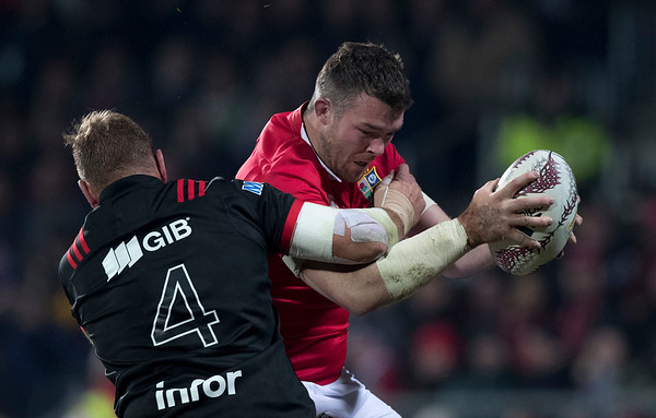 Peter O'Mahony dduring game 3 of the British and Irish Lions 2017 Tour of New Zealand,The match between  Crusaders and British and Irish Lions, AMI Stadium, Christchurch, Saturday 10th June 2017 (Photo by Kevin Booth Steve Haag Sports)  Images for social media must have consent from Steve Haag