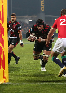 Jordan Tarfua during game 3 of the British and Irish Lions 2017 Tour of New Zealand,The match between  Crusaders and British and Irish Lions, AMI Stadium, Christchurch, Saturday 10th June 2017 (Photo by Kevin Booth Steve Haag Sports)  Images for social media must have consent from Steve Haag