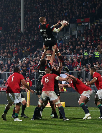 Luke Romano during game 3 of the British and Irish Lions 2017 Tour of New Zealand,The match between  Crusaders and British and Irish Lions, AMI Stadium, Christchurch, Saturday 10th June 2017 (Photo by Kevin Booth Steve Haag Sports)  Images for social media must have consent from Steve Haag