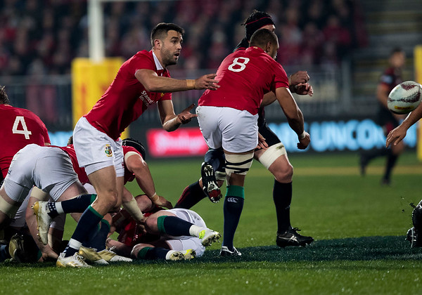Conor Murray during game 3 of the British and Irish Lions 2017 Tour of New Zealand,The match between  Crusaders and British and Irish Lions, AMI Stadium, Christchurch, Saturday 10th June 2017 (Photo by Kevin Booth Steve Haag Sports)  Images for social media must have consent from Steve Haag