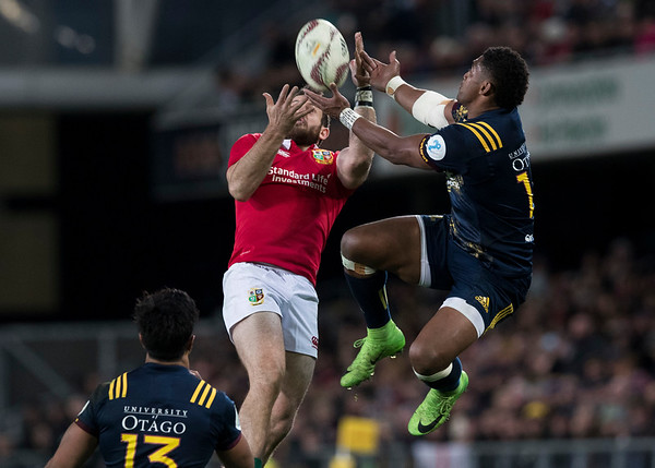 Waisake Naholo and Tommy Seymour,during game 4 of the British and Irish Lions 2017 Tour of New Zealand,The match between  Highlanders and British and Irish Lions, Forsyth Barr Stadium, Dunedin, Tuesday 13th June 2017 (Photo by Kevin Booth Steve Haag Sports)  Images for social media must have consent from Steve Haag