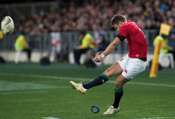 Dan Biggar, during game 4 of the British and Irish Lions 2017 Tour of New Zealand,The match between  Highlanders and British and Irish Lions, Forsyth Barr Stadium, Dunedin, Tuesday 13th June 2017 (Photo by Kevin Booth Steve Haag Sports)  Images for social media must have consent from Steve Haag