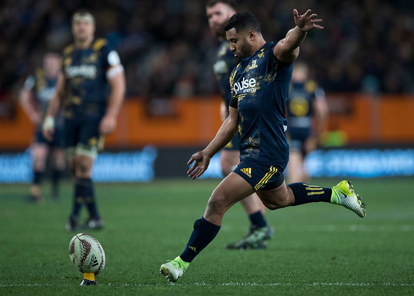Lima Sopoaga, during game 4 of the British and Irish Lions 2017 Tour of New Zealand,The match between  Highlanders and British and Irish Lions, Forsyth Barr Stadium, Dunedin, Tuesday 13th June 2017 (Photo by Kevin Booth Steve Haag Sports)  Images for social media must have consent from Steve Haag