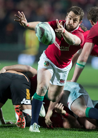 Greig Laidlaw during game 6 of the British and Irish Lions 2017 Tour of New Zealand,The match between  The Chiefs and British and Irish Lions, FMG Stadium, Hamilton, Tuesday 20th June 2017 (Photo by Kevin Booth Steve Haag Sports)  Images for social media must have consent from Steve Haag