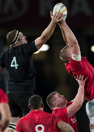 Brodie Retallick during game 7 of the British and Irish Lions 2017 Tour of New Zealand, the first Test match between  The All Blacks and British and Irish Lions, Eden Park, Auckland, Saturday 24th June 2017 (Photo by Kevin Booth Steve Haag Sports)  Images for social media must have consent from Steve Haag