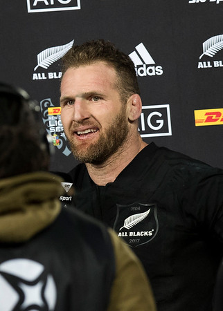 Kieran Read (c) during game 7 of the British and Irish Lions 2017 Tour of New Zealand, the first Test match between  The All Blacks and British and Irish Lions, Eden Park, Auckland, Saturday 24th June 2017 (Photo by Kevin Booth Steve Haag Sports)  Images for social media must have consent from Steve Haag