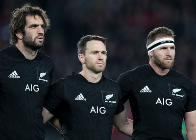 Sam Whitelock Ben Smith Kieran Read (c) during game 7 of the British and Irish Lions 2017 Tour of New Zealand, the first Test match between  The All Blacks and British and Irish Lions, Eden Park, Auckland, Saturday 24th June 2017 (Photo by Kevin Booth Steve Haag Sports)  Images for social media must have consent from Steve Haag