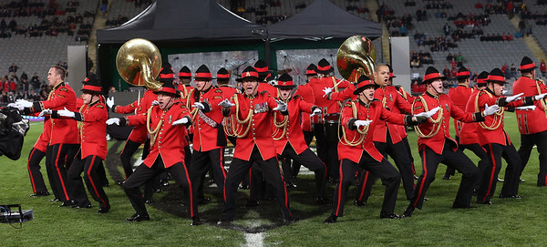 NZ Army Band during game 7 of the British and Irish Lions 2017 Tour of New Zealand, the first Test match between  The All Blacks and British and Irish Lions, Eden Park, Auckland, Saturday 24th June 2017 (Photo by Kevin Booth Steve Haag Sports)  Images for social media must have consent from Steve Haag