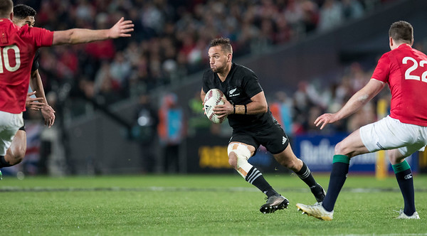 Aaron Cruden  during game 7 of the British and Irish Lions 2017 Tour of New Zealand, the first Test match between  The All Blacks and British and Irish Lions, Eden Park, Auckland, Saturday 24th June 2017 (Photo by Kevin Booth Steve Haag Sports)  Images for social media must have consent from Steve Haag
