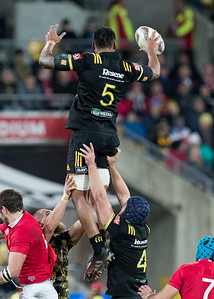 Sam Lousi during game 8 of the British and Irish Lions 2017 Tour of New Zealand,The match between  Hurricanes and British and Irish Lions, Westpac Stadium, Wellington, Tuesday 27th June 2017 (Photo by Kevin Booth Steve Haag Sports)  Images for social media must have consent from Steve Haag
