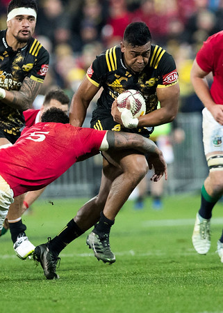 Julian Savea during game 8 of the British and Irish Lions 2017 Tour of New Zealand,The match between  Hurricanes and British and Irish Lions, Westpac Stadium, Wellington, Tuesday 27th June 2017 (Photo by Kevin Booth Steve Haag Sports)  Images for social media must have consent from Steve Haag