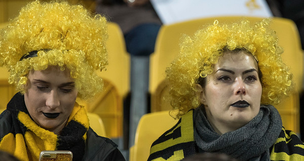 Hurricanes Fans during game 8 of the British and Irish Lions 2017 Tour of New Zealand,The match between  Hurricanes and British and Irish Lions, Westpac Stadium, Wellington, Tuesday 27th June 2017 (Photo by Kevin Booth Steve Haag Sports)  Images for social media must have consent from Steve Haag