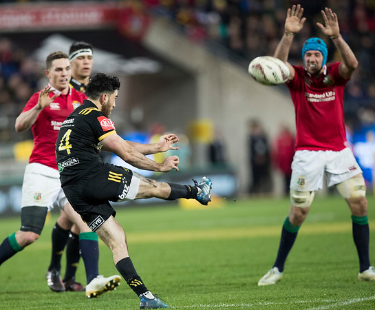 Nehe Milner-Skudder during game 8 of the British and Irish Lions 2017 Tour of New Zealand,The match between  Hurricanes and British and Irish Lions, Westpac Stadium, Wellington, Tuesday 27th June 2017 (Photo by Kevin Booth Steve Haag Sports)  Images for social media must have consent from Steve Haag