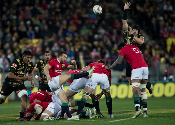 Greig Laidlaw during game 8 of the British and Irish Lions 2017 Tour of New Zealand,The match between  Hurricanes and British and Irish Lions, Westpac Stadium, Wellington, Tuesday 27th June 2017 (Photo by Kevin Booth Steve Haag Sports)  Images for social media must have consent from Steve Haag