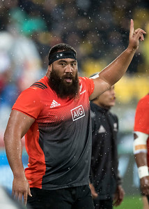 Charlie Faumuina  during game 9 of the British and Irish Lions 2017 Tour of New Zealand, the second Test match between  The All Blacks and British and Irish Lions, Westpac Stadium, Wellington, Saturday 1st July 2017 (Photo by Kevin Booth Steve Haag Sports)  Images for social media must have consent from Steve Haag