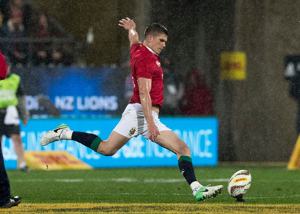 Owen Farrell during game 9 of the British and Irish Lions 2017 Tour of New Zealand, the second Test match between  The All Blacks and British and Irish Lions, Westpac Stadium, Wellington, Saturday 1st July 2017 (Photo by Kevin Booth Steve Haag Sports)  Images for social media must have consent from Steve Haag