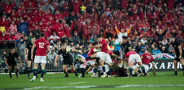 Conor Murray kicks for touch to end game Lions win 24-21 during game 9 of the British and Irish Lions 2017 Tour of New Zealand, the second Test match between  The All Blacks and British and Irish Lions, Westpac Stadium, Wellington, Saturday 1st July 2017 (Photo by Kevin Booth Steve Haag Sports)  Images for social media must have consent from Steve Haag