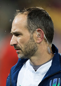 Romain Poite (France) during game 9 of the British and Irish Lions 2017 Tour of New Zealand, the second Test match between  The All Blacks and British and Irish Lions, Westpac Stadium, Wellington, Saturday 1st July 2017 (Photo by Kevin Booth Steve Haag Sports)  Images for social media must have consent from Steve Haag