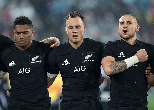 Waisake Naholo Israel Dagg  TJ Perenara during game 9 of the British and Irish Lions 2017 Tour of New Zealand, the second Test match between  The All Blacks and British and Irish Lions, Westpac Stadium, Wellington, Saturday 1st July 2017 (Photo by Kevin Booth Steve Haag Sports)  Images for social media must have consent from Steve Haag