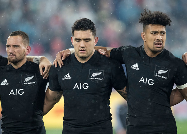 Aaron Cruden Codie Taylor   Ardie Savea during game 9 of the British and Irish Lions 2017 Tour of New Zealand, the second Test match between  The All Blacks and British and Irish Lions, Westpac Stadium, Wellington, Saturday 1st July 2017 (Photo by Kevin Booth Steve Haag Sports)  Images for social media must have consent from Steve Haag