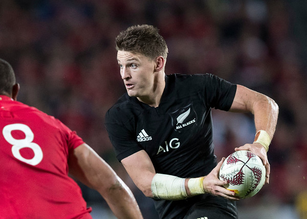 Beauden Barrett  during game 10 of the British and Irish Lions 2017 Tour of New Zealand, the third Test match between  The All Blacks and British and Irish Lions, Eden Park, Auckland, Saturday 8th July 2017 (Photo by Kevin Booth Steve Haag Sports)  Images for social media must have consent from Steve Haag