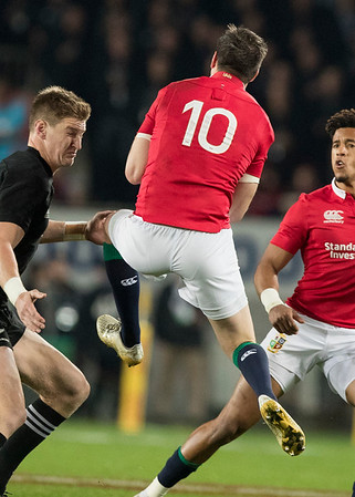 Johnny Sexton  during game 10 of the British and Irish Lions 2017 Tour of New Zealand, the third Test match between  The All Blacks and British and Irish Lions, Eden Park, Auckland, Saturday 8th July 2017 (Photo by Kevin Booth Steve Haag Sports)  Images for social media must have consent from Steve Haag