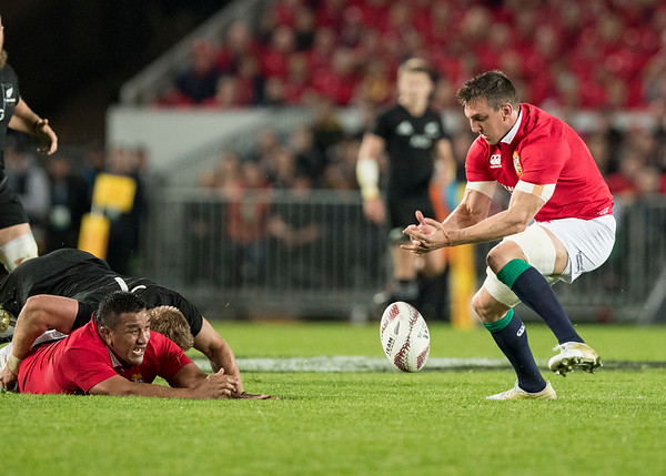 Sam Warburton (c)  drops ball during game 10 of the British and Irish Lions 2017 Tour of New Zealand, the third Test match between  The All Blacks and British and Irish Lions, Eden Park, Auckland, Saturday 8th July 2017 (Photo by Kevin Booth Steve Haag Sports)  Images for social media must have consent from Steve Haag