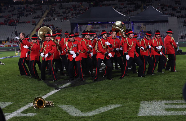 NZ Army Band during game 10 of the British and Irish Lions 2017 Tour of New Zealand, the third Test match between  The All Blacks and British and Irish Lions, Eden Park, Auckland, Saturday 8th July 2017 (Photo by Kevin Booth Steve Haag Sports)  Images for social media must have consent from Steve Haag