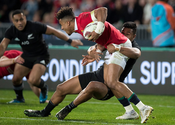 Anthony Watson  during game 10 of the British and Irish Lions 2017 Tour of New Zealand, the third Test match between  The All Blacks and British and Irish Lions, Eden Park, Auckland, Saturday 8th July 2017 (Photo by Kevin Booth Steve Haag Sports)  Images for social media must have consent from Steve Haag